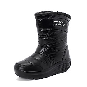 povoljno Seksi donje rublje-Žene Čizme Ravna potpetica Okrugli Toe PU Zima Crn