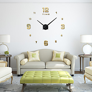 cheap Wall Clocks-M.Sparkling 3d Real Big Wall Clock Rushed Mirror Wall Sticker  Living Room Home Decor Fashion Watches Quartz Wall Clock