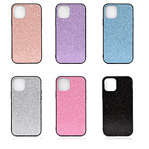cheap iPhone Cases-Case For Apple iPhone 11 / iPhone 11 Pro / iPhone 11 Pro Max Glitter Shine Back Cover Solid Colored TPU