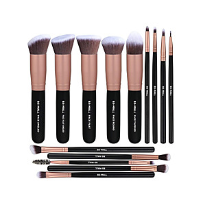 cheap Makeup Brush Sets-Professional Makeup Brushes 14pcs Cute Full Coverage Sexy Lady Travel Size Plastic for Eyeshadow Kit Makeup Brush