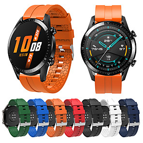 cheap Smartwatch Bands-Silicone Watch Band Wrist Strap For Huawei Watch GT 2 / Honor Magic / Watch 2 Pro / GT Active Replacement Bracelet Wristband