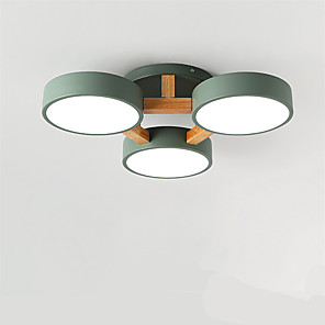 cheap Dimmable Ceiling Lights-3-Light Nordic Living Room Lamp Dining Room Lamp Modern Contracted Hall Lamp Led Creative Personality Bedroom Lamp Wooden Ceiling Light