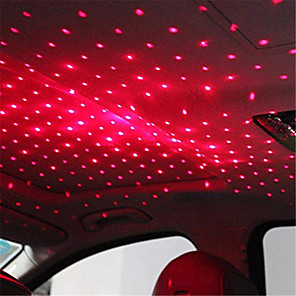 cheap Car Decoration Lights-1pcs LED Car Roof Star Night Light Projector Atmosphere Galaxy Lamp USB Decorative Lamp Adjustable Multiple Lighting Effects