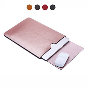 cheap Mac Accessories-Sleeves Solid Colored / Business PU Leather for Macbook Air 11-inch / MacBook Pro 13-inch with Retina display / MacBook Air 13-inch