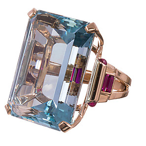 cheap Fine Jewelry-Women's Ring 1pc Gold Imitation Diamond Alloy Square Luxury Classic Trendy Gift Daily Jewelry Classic Lucky