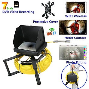 cheap Video Door Phone Systems-7inch 23 mm lens Endoscope HD 1080P Sewer Pipe Inspection Camera With Meter Counter / DVR Video recording / WIFI wireless / Keyboar Photo Editing-10m/20m/30m/40m/50m