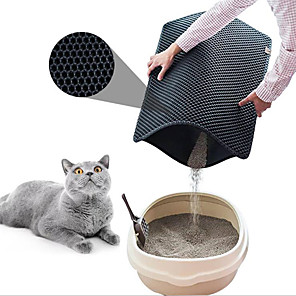 cheap Cat Beds & Carriers-Dog Cat Pets Bed Plastic Pet Mats & Pads Solid Colored Waterproof Multi layer Black Coffee