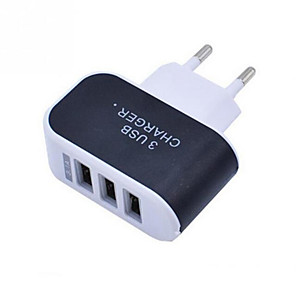 cheap USB Chargers-Phone Charger Portable Wall Charger Multi Port USB Charger 3 Ports Adapter For Cell phones