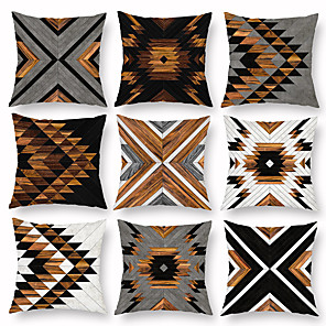 cheap Pillow Covers-Cushion Cover 1PC Linen Soft Decorative Square Throw Pillow Cover Cushion Case Pillowcase for Sofa Bedroom 45 x 45 cm (18 x 18 Inch) Superior Quality Mashine Washable Pack of 1