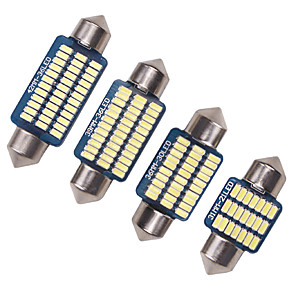 cheap Car Interior Lights-4pcs Car C5W Canbus 31/36/39/41MM 3014 21/30/36Led error free Interior reading Light Clearance Bulbs Auto plate Lamp white 12V