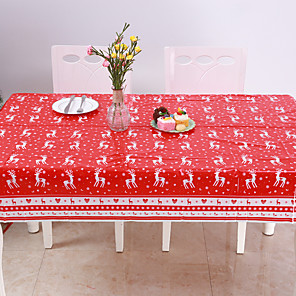 cheap Wall Stickers-Disposable Merry Christmas Rectangular Printed PVC Cartoon Tablecloth 120 * 180cm