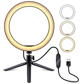 "cheap Ring light-6.3"" ZDM Selfie Ring Light TikTok Light Youtube Video Camera with Tripod Stand Dimmable 1 set LED Camera Ringlight for Live Stream Blogger Makeup Youtube Video Photography USB"