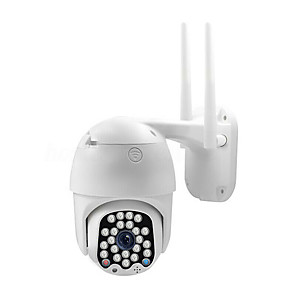cheap Outdoor IP Network Cameras-SS-007 2MP 1080P Wireless&Wifi 3.6MM PTZ Support APP IP66 Waterproof IP Camera Outdoor Install Anti-buzzer Alarm To Detect Support 64G