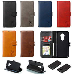 cheap Other Phone Case-Case For Motorola MOTO G6 / Moto G6 Plus / Moto G7 Play Wallet / Card Holder / with Stand Full Body Cases Solid Colored PU Leather