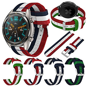 cheap Smartwatch Bands-22mm Nylon Watch Band Wrist Strap For Huawei Watch GT Active / GT 2 46mm / Honor Magic / Watch 2 Pro Replaceable Bracelet Wristband