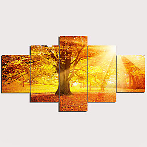 cheap Prints-Print Stretched Canvas Prints - Abstract Traditional Modern Five Panels Art Prints
