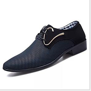 cheap Men's Oxfords-Men's Comfort Shoes PU Winter Oxfords Warm Blue / White