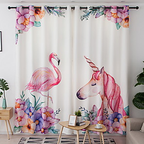cheap Curtains Drapes-Modern Curtains Drapes Two Panels Curtain / Blackout / Bedroom