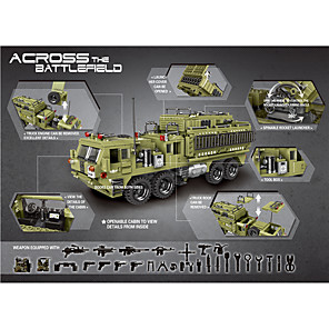 cheap Building Blocks-Building Blocks Military Blocks Vehicle Playset Educational Toy Construction Set Toys 1377 pcs compatible PP+ABS Legoing Cute All Toy Gift / Kids