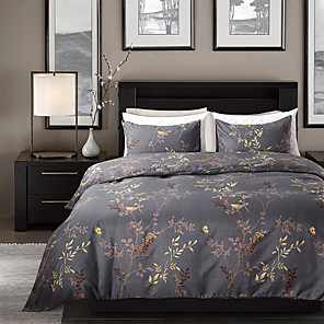 cheap Duvet Covers-Duvet Cover Sets Floral / Botanical Polyester / Polyamide Reactive Print / Printed 3 PieceBedding Sets