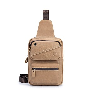 cheap Wedding Shoes-(Bullcaptain) Men'S New Leather Casual Sports Ipad Suede Leather Chest Bag