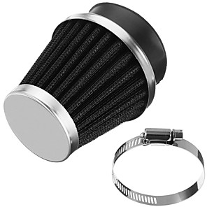 cheap Car Filters-Universal Motorcycle Carburetor Clamp-On Air Filter Taper Cleaner 54mm 12-55754