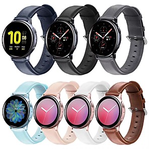 cheap Smartwatch Bands-Watch Band for Samsung Galaxy Watch Active 2 Samsung Galaxy Business Band Genuine Leather Wrist Strap