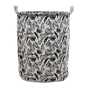 cheap Bathroom Gadgets-Large Laundry Basket Drawstring Waterproof Round Cotton Linen Collapsible Storage Basket
