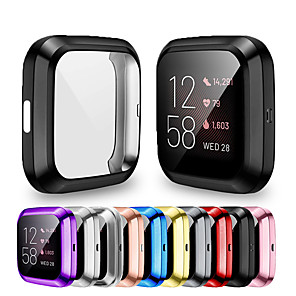 cheap Smartwatch Bands-Soft Plating TPU Protective Clear Watch Case For Fitbit Versa 2 Case Cover Shell Screen Protector