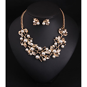 cheap Jewelry Sets-Women's Crystal Bridal Jewelry Sets Classic Flower Vintage Rhinestone Earrings Jewelry Gold / Silver For Wedding Party 1 set