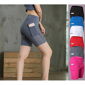 cheap Running & Jogging Clothing-YUERLIAN Women's Compression Shorts Running Shorts Running Tight Shorts Athletic Shorts Underwear Compression Clothing with Phone Pocket Fitness Gym Workout Running Exercise Butt Lift Breathable