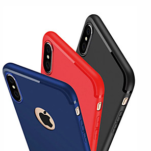 cheap iPhone Cases-Case For Apple iPhone X XS / iPhone XR / iPhone XS Max Ultra-thin Back Cover Solid Colored Soft TPU for  iPhone 7/8/6 Plus