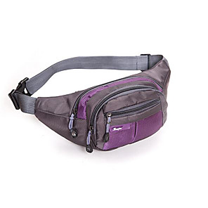 cheap Running Bags-Running Belt Fanny Pack Waist Bag / Waist pack 1 L for Fishing Hiking Climbing Cycling / Bike Sports Bag Wearable Nylon Running Bag