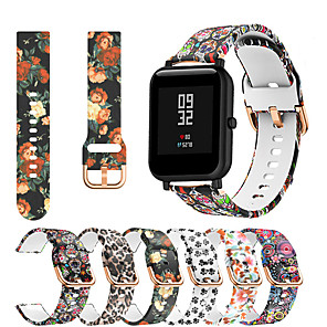 cheap Smartwatch Bands-Printing Silicone Watch Band For Huami Amazfit Bip Youth / GTS / GTR 42mm Replaceable Bracelet Wrist Strap Wristband