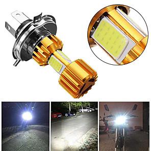cheap Motorcycle Lighting-2pcs Motorbike H4 18W LED 3 COB Motorcycle Headlight Bulb 2000LM BA20D Beam Light Fog Light