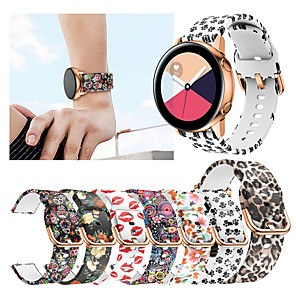 cheap Smartwatch Bands-Printing Silicone Watch Band For Samsung Galaxy Watch Active 2 / Galaxy Watch 42mm / Gear Sport / Gear S2 Classic Replaceable Bracelet Wrist Strap Wristband