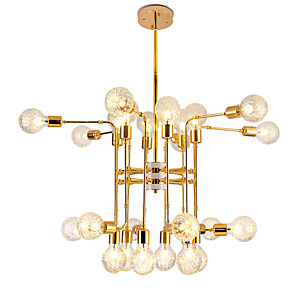 cheap Wall Sconces-24 Bulbs 24 Lights Luxury Gold Chandelier Candle-style European Modern Lights for Living Room Dinning Room Shops Caffe LED G9 Bulbs Not Included