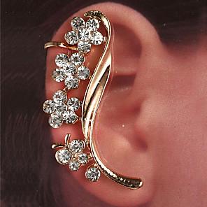cheap Earrings-Women's Ear Cuff Earrings Classic Flower Shape Classic Trendy Fashion Cute Elegant Imitation Diamond Earrings Jewelry Gold / Silver For Gift Daily Street Holiday Festival 1pc