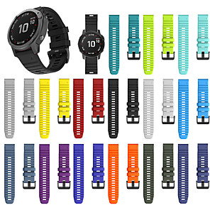 cheap Smartwatch Bands-For Garmin Fenix 6X /6X pro Fenix 5X /5X Plus Replacement Quick Release Silicone Watch band Wrist Strap 26mm