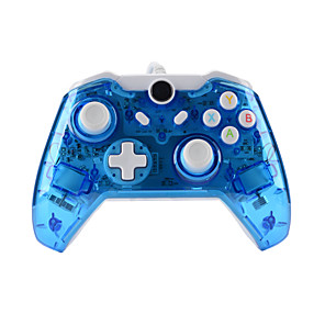 cheap Video Game Accessories-GH8112 XBOX ONE Controller USB Wired headset for Microsoft Xbox ONE Console & PC Windows7/8/10 - Transparent shell  Key improvement  Three mode Dazzling LED(Penetrating blue)