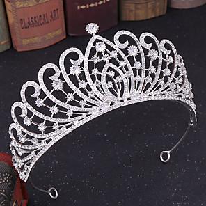 povoljno Party pokrivala za glavu-Umjetno drago kamenje / Legura tijare s Crystal / Rhinestone 1 komad Vjenčanje Glava