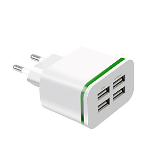 cheap Fast Chargers-Fast Charger USB Charger EU Plug Multi-Output 4 USB Ports 4 A 100~240 V for Universal