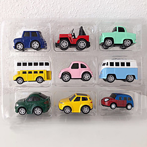 cheap Toy Cars-Toy Car Vehicles Car Construction Truck Set Pull Back Vehicles Soft Plastic Mini Car Vehicles Toys for Party Favor or Kids Birthday Gift 9 pcs / Kid's