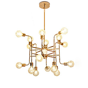 cheap Wall Sconces-16 Bulbs 16 Lights Luxury Gold Chandelier Candle-style European Modern Lights for Living Room Dinning Room Shops Caffe LED G9 Bulbs Not Included