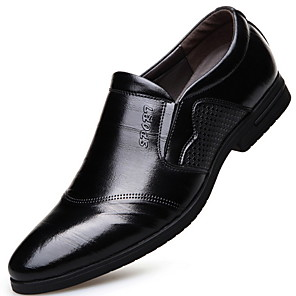 cheap Men's Slip-ons & Loafers-Men's Comfort Shoes Leather Fall & Winter Loafers & Slip-Ons Black / Brown