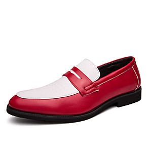 cheap Men's Slip-ons & Loafers-Men's Formal Shoes PU Spring & Summer / Fall & Winter Business / Casual Loafers & Slip-Ons Walking Shoes Breathable Pink / White / White / Blue / White / Yellow / Party & Evening