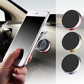 cheap Phone Mounts & Holders-Car Cell phoneHolder Magnetic Mobile phone Holder car Bracket Dashboard Steering Wheel Round Mobile phone Holder