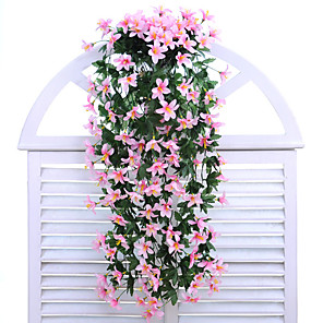 cheap Artificial Plants-Artificial Flowers 1 Branch Wall-Mounted Modern Contemporary Pastoral Style Lilies Wall Flower