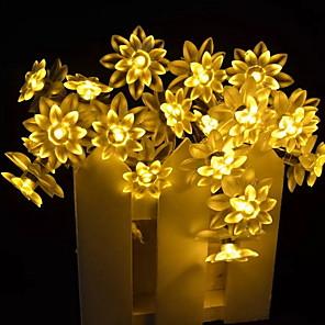 cheap LED String Lights-5m String Lights 20 LEDs 1 set Warm White Solar Decorative Solar Powered