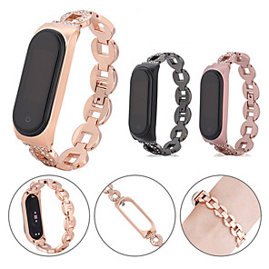 cheap Smartwatch Bands-For Xiaomi Mi Band 4/3 Stainless Steel Bling Band Wristband